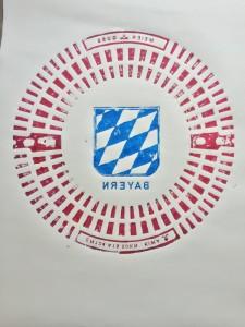 Bayern in rotblau